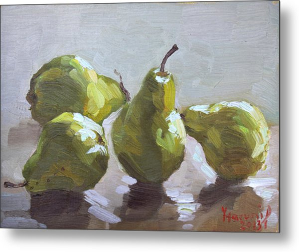Four Pears Metal Print
