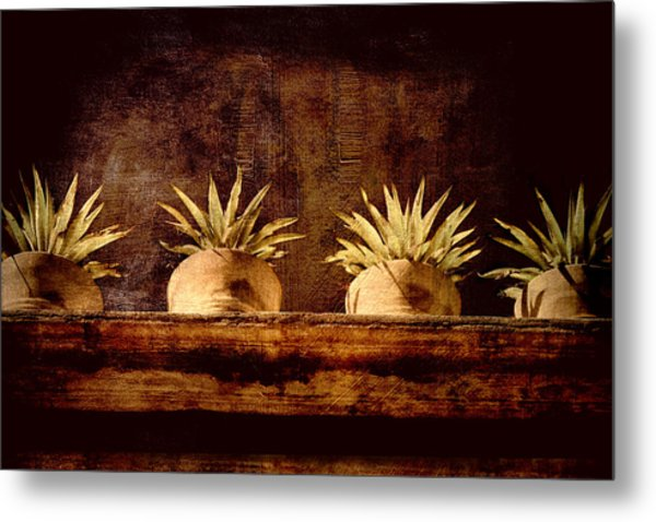 Four Potted Plants Metal Print