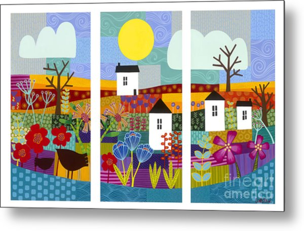 Metal Print featuring the painting Four Seasons by Carla Bank