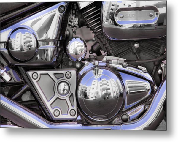 Four-stroke Metal Print