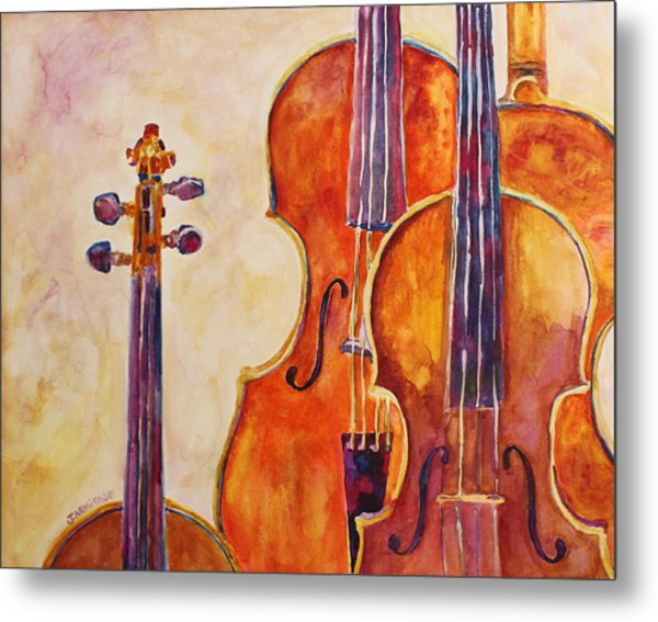 Four Violins Metal Print