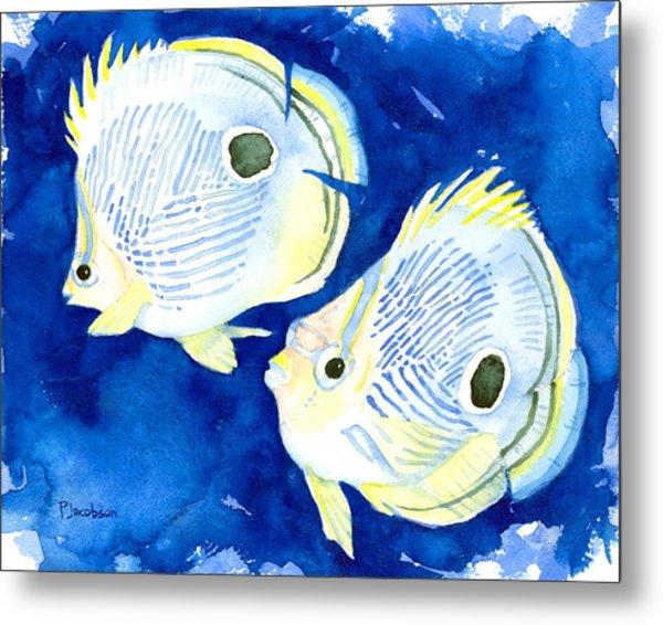 Foureye Butterflyfish Metal Print