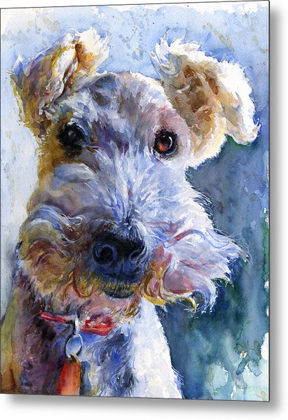 Fox Terrier Full Metal Print