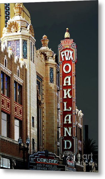 Metal Print featuring the photograph Fox Theater . Oakland California by Wingsdomain Art and Photography