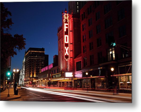 Fox Theater Twilight Metal Print