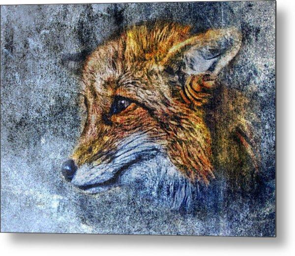 Foxy Metal Print by Yury Malkov
