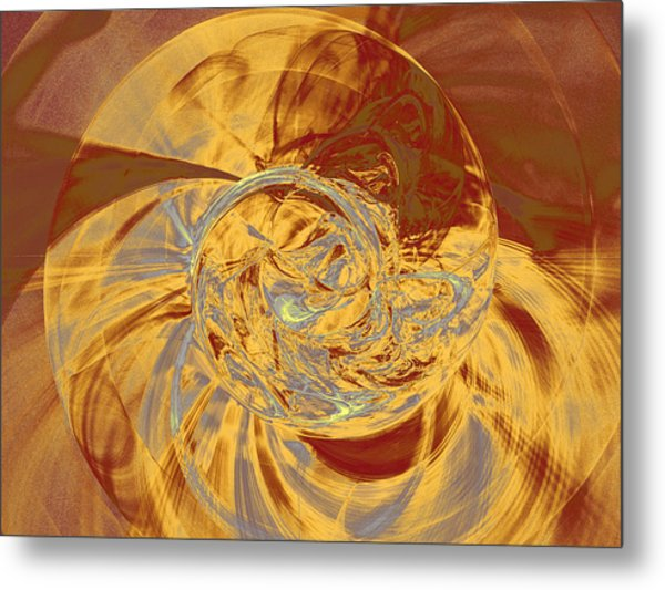 Metal Print featuring the digital art Ammonite by Menega Sabidussi
