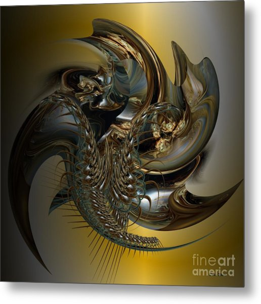 Fractal Display Metal Print by Doris Wood