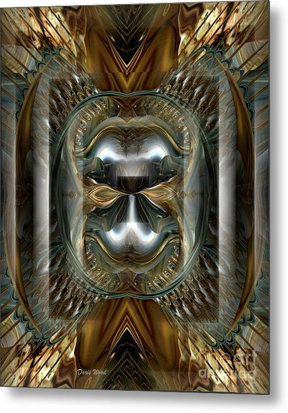 Fractal Display Number Eight Metal Print by Doris Wood