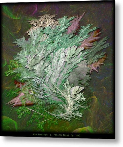 Fractal Ferns Metal Print