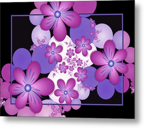 Fractal Flowers Modern Art Metal Print