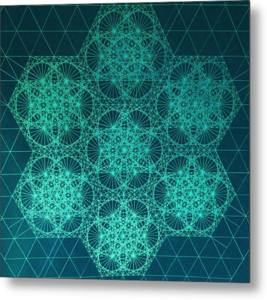 Fractal Interference Metal Print
