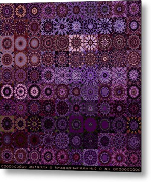 Fractascope Kaleidestry 10x10 Metal Print