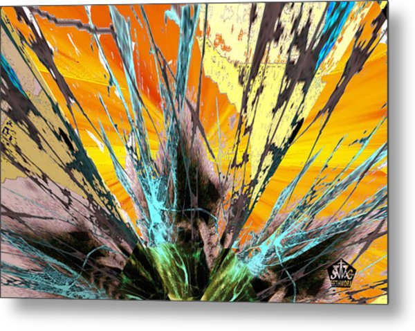 Fractured Sunset Metal Print
