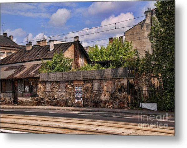 Fragment Of Ghetto Wall Metal Print