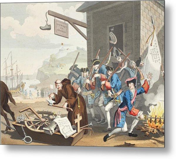 France, Illustration From Hogarth Metal Print