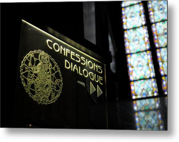 France, Paris Confessions Dialogue Metal Print