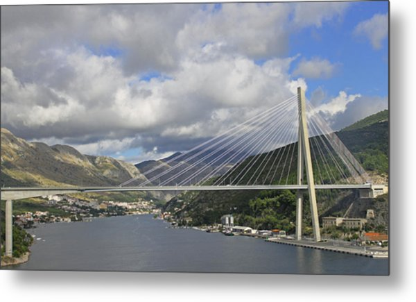 Franjo Tudman Bridge Metal Print