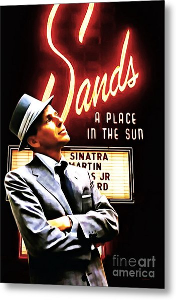 Frank Sinatra I Did It My Way 20150126brun V2 Metal Print by Wingsdomain Art and Photography