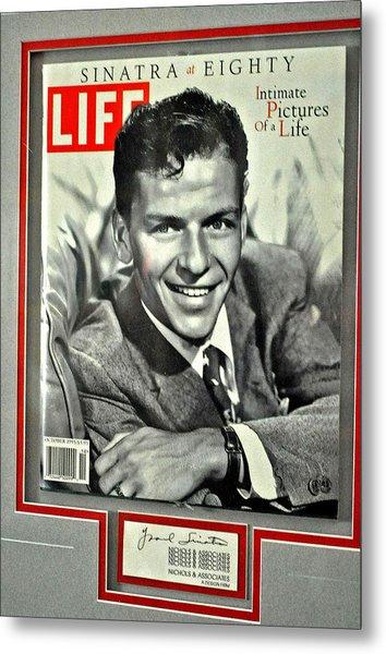 Frank Sinatra Life Cover Metal Print