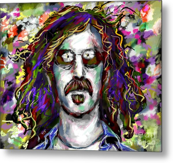 Frank Zappa Painting Metal Print