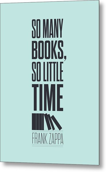 Frank Zappa Quote Typography Print Quotes Poster Metal Print