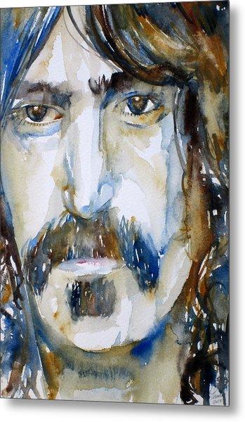 Frank Zappa Watercolor Portrait.2 Metal Print