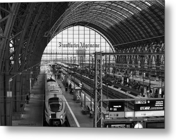 Frankfurt Bahnhof - Train Station Metal Print