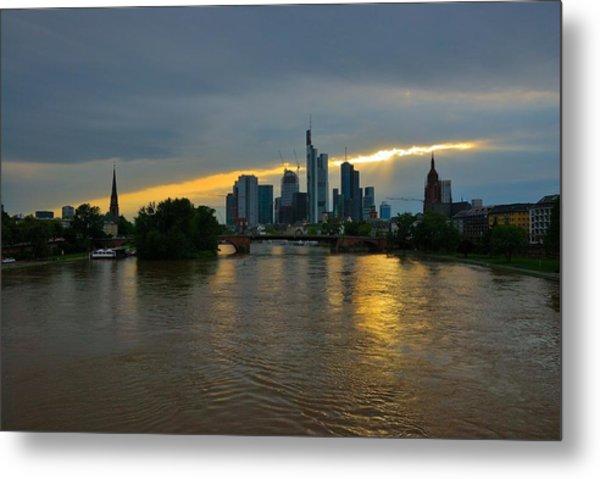 Frankfurt Sunset Metal Print by Steven Richman
