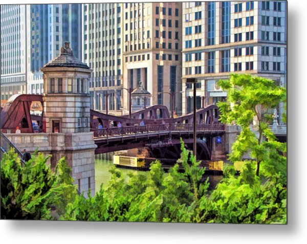 Chicago Franklin Street Bridge Metal Print