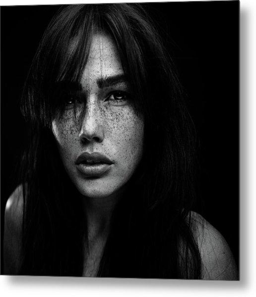 Freckles [romi] Metal Print by Martin Krystynek Qep