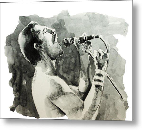 Freddie Mercury 8 Metal Print
