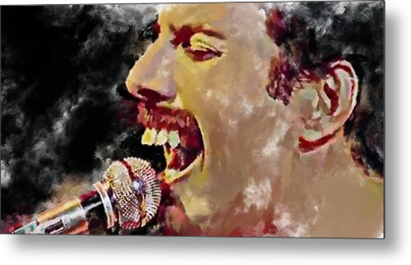 Freddie Mercury Queen 4 Metal Print