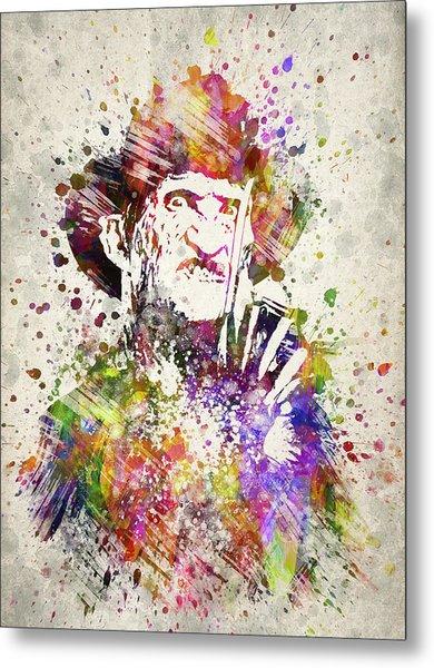 Freddy Krueger In Color Metal Print