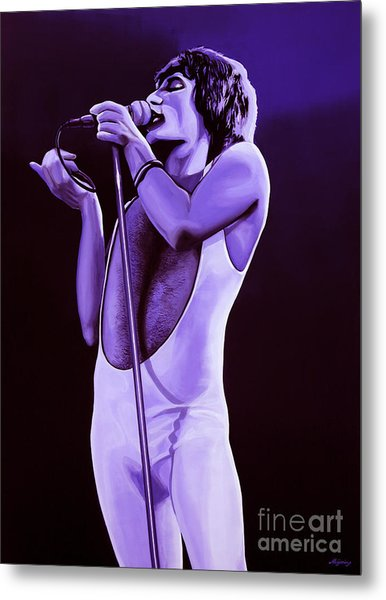 Freddie Mercury Of Queen Metal Print