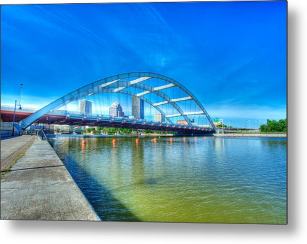 Frederick Douglass Susan B. Anthony Memorial Bridge Metal Print