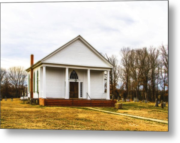 Fredonia Church And Cemetery Metal Print by Barry Jones