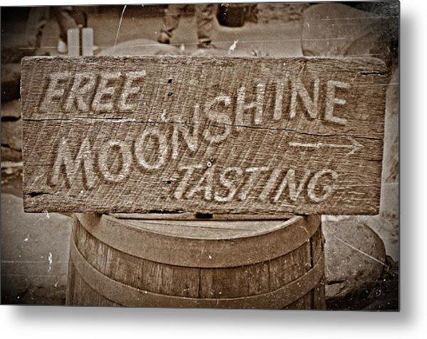 Free Moonshine Metal Print