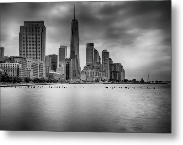 Freedom In The Skyline Metal Print