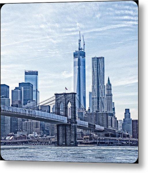 Freedom Tower Rising Metal Print