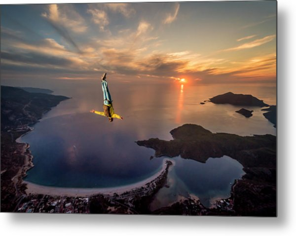 Freefalling With Guillaume Galvani Metal Print by Tristan Shu