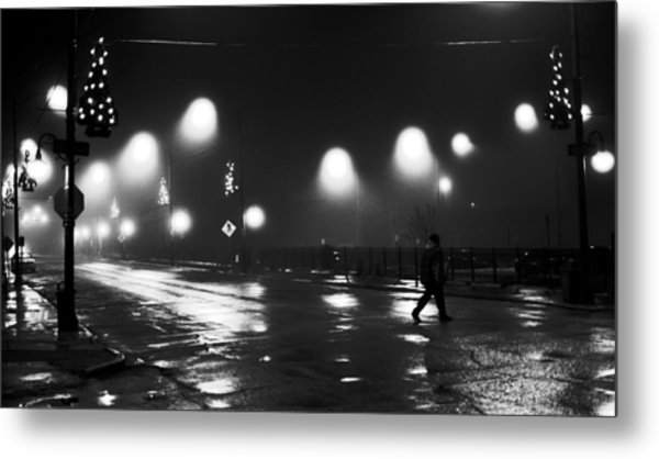Freeport Illinois New Year's Eve 2010 Metal Print by Jon Van Gilder