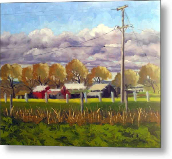 Freeway Farm Metal Print by Char Wood