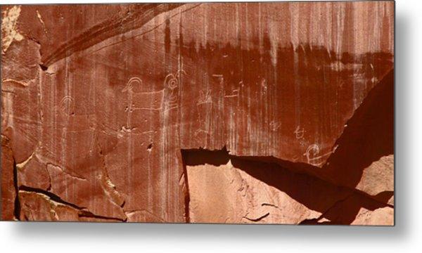 Fremont Culture Petroglyphs In Utah Metal Print