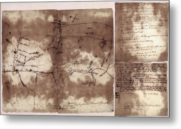 French And Indian War Map Metal Print