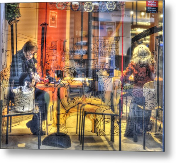 French Cafe Life Metal Print