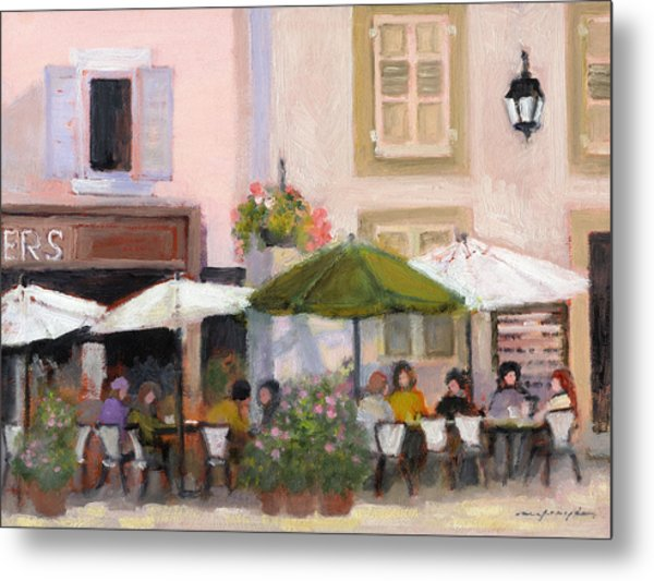 French Country Cafe Metal Print