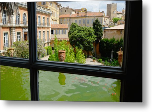 French Courtyard Metal Print