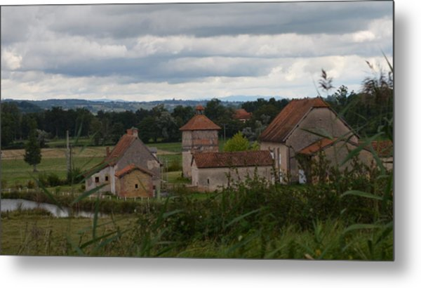 French Farm House Metal Print