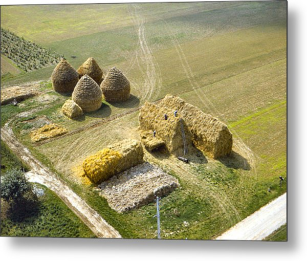 French Haystacks Metal Print
